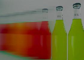 marked red bottles, marked green bottles