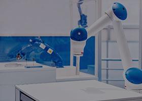 blue and white robotics